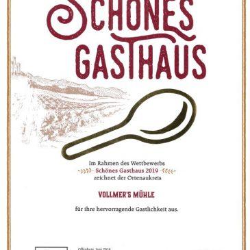 """Auszeichnung """"Schönes Gasthaus"""""""